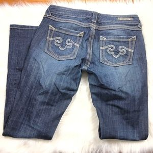 Express ReRock Skinny Mid Rise Jeans, Womens 6R